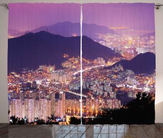Skyline of Busan Korea Curtain
