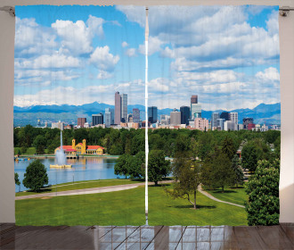 Sunny City Park at Denver Curtain