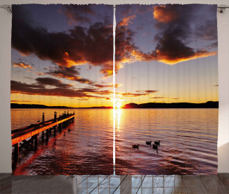 Lake Rotorua at Sunrise Curtain