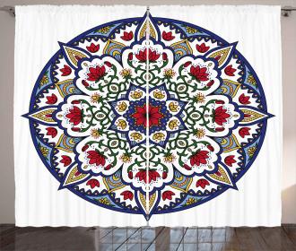Mandala Lotus Ancient Curtain