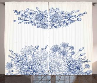 Bridal Bouquet Carnations Curtain