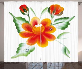 Daffodils in Watercolors Curtain