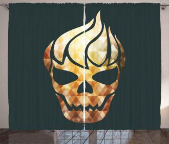 Skull Fractal Effects Curtain