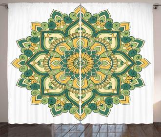 Ethnic Dahlia Petals Curtain