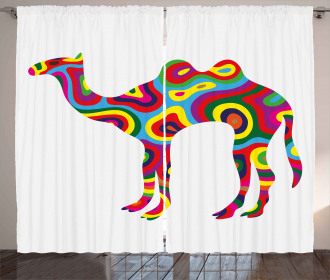 Abstract Camel Figure Curtain