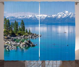 Blue Water Lake Tahoe Curtain