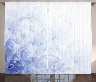 Abstract Floral Curl Curtain