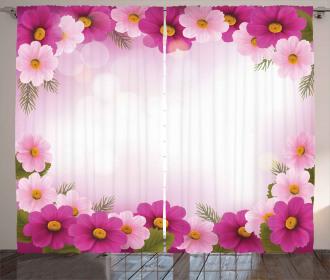 Romantic Daisies Framework Curtain