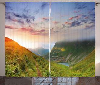 Sunrise Mottled Clouds Curtain