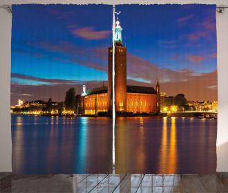 Stockholm Scenic Night Curtain