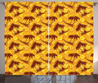 Ocean Island Palms Curtain