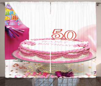 Cake Party Hat Gift Curtain