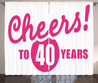 Cheery Greeting Icon Curtain