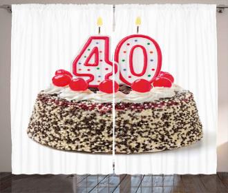 Yummy Birthday Cake Curtain