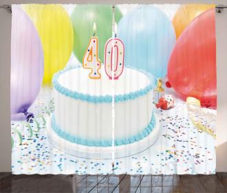 Joyful Party and Cake Curtain