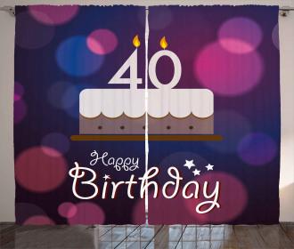 Birthday Cake Dots Curtain