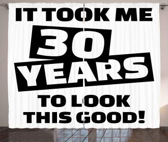 Funny Slogan Curtain
