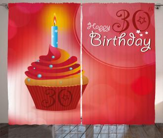 Cute Cupcake Stars Curtain