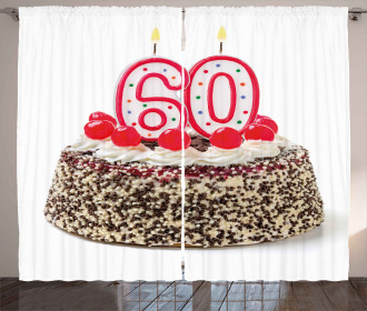 Party Cake Candle Curtain