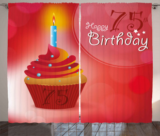 Starry Candle Cupcake Curtain
