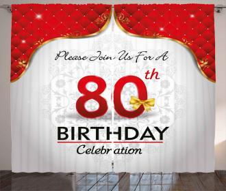 Birthday Party Invite Curtain