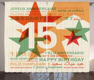Birthday Greetings Curtain