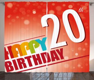 Twenty Birthday Party Curtain