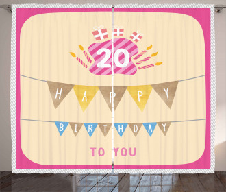 Girly Pink Birthday Curtain