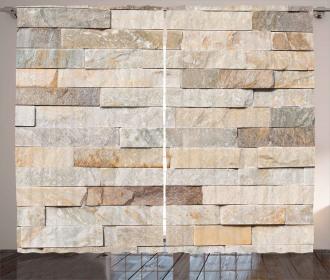 Brick Wall Stylized City Curtain
