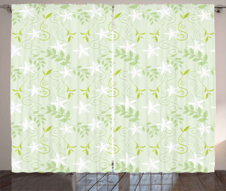 Swirls Floral Branches Curtain