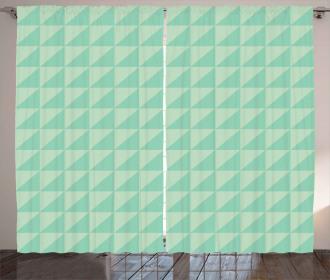 Half Squares Triangles Curtain