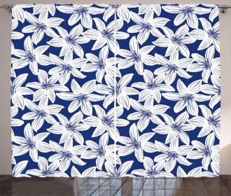 Hibiscus Flower Petals Curtain