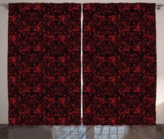 Swirls Flowers Ethnic Curtain