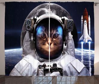 Space raveller Pet Curtain