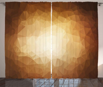 Abstract Triangles Mosaic Curtain
