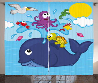 Marine Animals Curtain