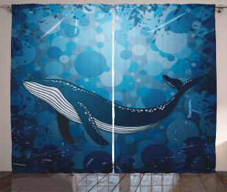 Marine Motif Ocean Retro Curtain