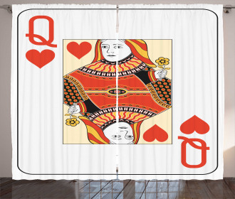Playing Poker Card Deck Curtain