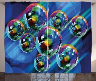 Colorful Disco Club Curtain