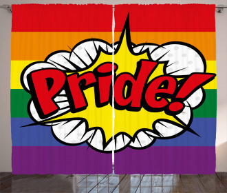 Pop Art Comics Pride Curtain