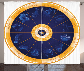 Birth Chart Horoscope Curtain