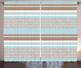 Horizontal Stripes Lines Curtain