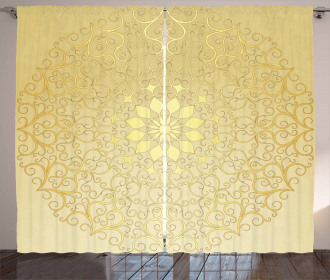 Antique Stylized Heart Curtain