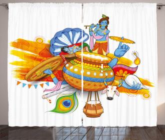 Ancient Festive Cultural Curtain