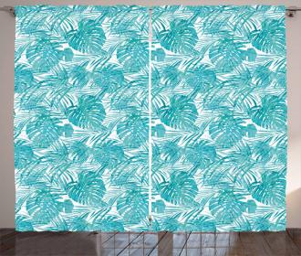 Camo Pattern Tropical Curtain
