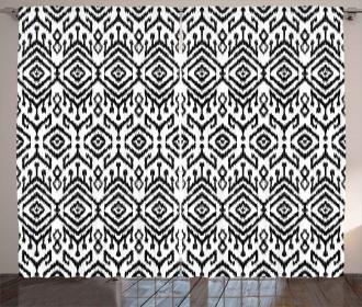 Scribble Ikat Art Curtain