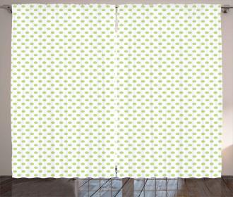 Vintage Retro Polka Dots Curtain