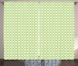 Inner Circles with Dots Curtain