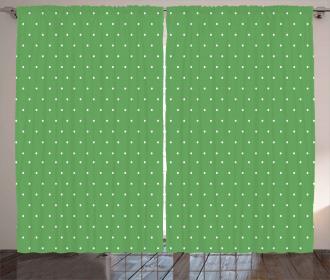60s Retro Vintage Dots Curtain