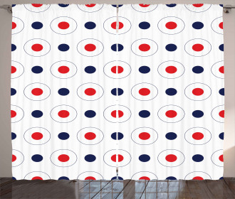 Old Pop Art Dots Circles Curtain